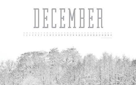 December 2013 Desktop Calendar